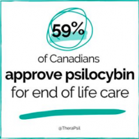 New Poll shows 59% of Canadians accept psilocybin for end of life care